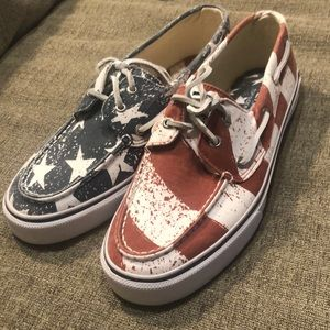 New Sperry Top-Sider American Flag Shoes 10M